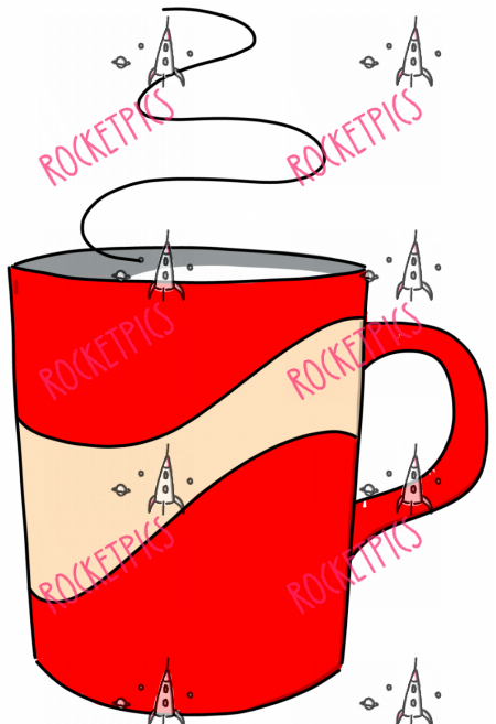 rotes Kaffeehaferl (6501) - Mug small kitchen kitchenette tea time tea warm hot break soup coffee Teeküche Kitchenette Kaffeeküche Tee warm heiss Pause Haferl Suppe Kaffee Cappuccino entspannen Entspannung Cappuccino relax